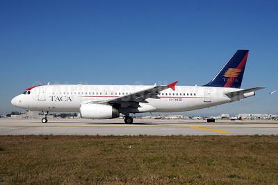 TACA International Airbus A320-233 EI-TAB (msn 1624) MIA (Bruce Drum). Image: 102469.