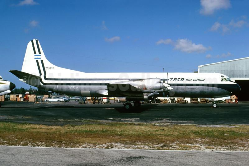 TACA Air Cargo (TACA International) Lockheed 188A (F) Electra YS-06C (msn 1147) MIA (Bruce Drum). Image: 102846.