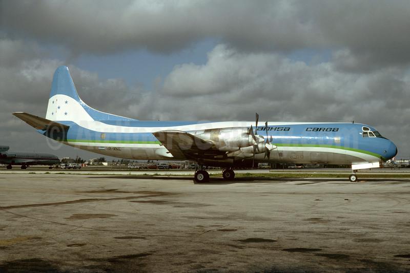 ANHSA Cargo Lockheed 188A (F) Electra HR-ANE (msn 1060) (SAHSA colors) MIA (Bruce Drum). Image: 104387.