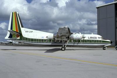 LANSA (Lineas Aéreas Nacionales S.A.) Fairchild F-27J HR-LAP (msn 116) MIA (Bruce Drum). Image: 105456.
