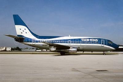SAHSA (Servicio Aereo de Honduras S.A.) Boeing 737-2H6 HR-SHP (msn 20582) MIA (Bruce Drum). Image: 104140.