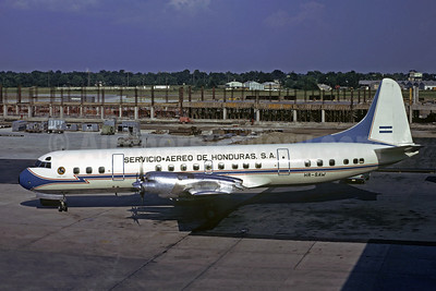 Servicio Aereo de Honduras S.A. (SAHSA) Lockheed 188A Electra HR-SAW (msn 1018) MSY (Jacques Guillem Collection). Image: 906629.