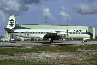 TAN Honduras (Transportes Aereos de Nacionales) (Honduras) Lockheed 188C Electra HR-TNL (msn 1134) MIA (Bruce Drum). Image: 105357.