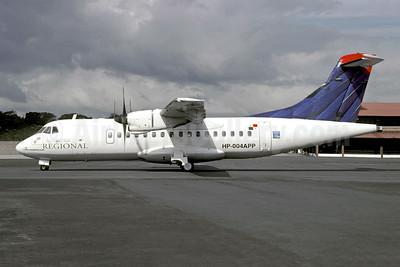 Aeroperlas Regional ATR 42-300 HP-004APP (msn 004) (Delta colors) PAC (Christian Volpati). Image: 950652.