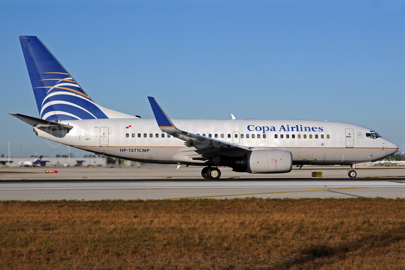 Copa Airlines Boeing 737-7V3 WL HP-1371CMP (msn 30049) MIA (Bruce Drum). Image: 101191.