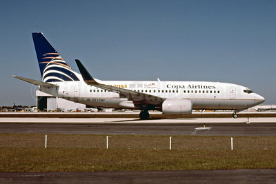 Copa Airlines Boeing 737-7V3 WL HP-1379CMP (msn 30463) (Panama 100 - 1903-2003) MIA (Bruce Drum). Image: 102435.