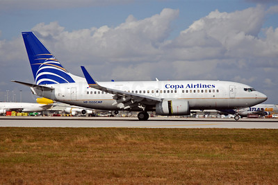 Copa Airlines Boeing 737-7V3 WL HP-1525CMP (msn 33706) MIA (Bruce Drum). Image: 101812.