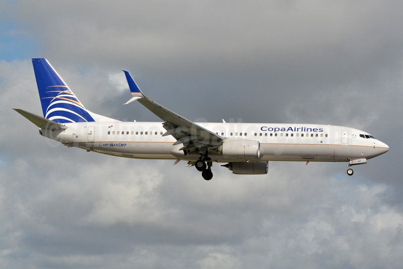 Copa Airlines Boeing 737-8V3 SSWL HP-1848CMP (msn 39965) MIA (Jay Selman). Image: 403337.