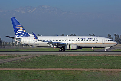 Copa Airlines Boeing 737-8V3 SSWL HP-1838CMP (msn 41445) SCL (Rob Finlayson). Image: 926290.