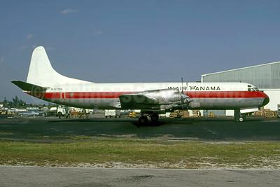 INAIR Panama (MCA Leasing Corporation) Lockheed 188A (F) Electra N417MA (HP-684) (msn 1128) MIA (Bruce Drum). Image: 105370.