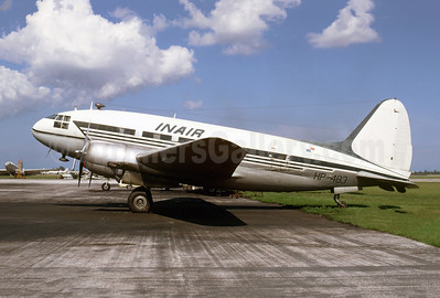 INAIR (Panama) Curtiss C-46A-45-CU Commando HP-483 (msn 30452) MIA (Bruce Drum). Image: 105008.
