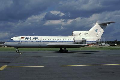 Ada Air (Albania) (Donbassaero) Yakovlev Yak-42D UR-42377 (msn 4520421014479) (Aeroflot colors) ZRH (Rolf Wallner). Image: 935130.