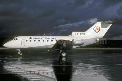 Albanian Airlines (Hemus Air) Yakovlev Yak-40 LZ-DOB (msn 9340432) ZRH (Rolf Wallner). Image: 941385.