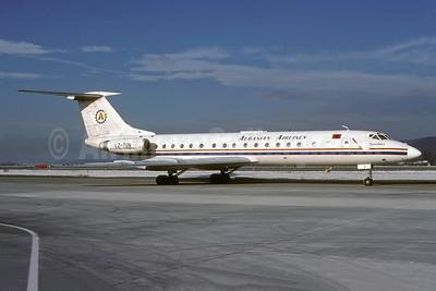 Albanian Airlines (Hemus Air) Tupolev Tu-134A-3 LZ-TUN (msn 4352307) ZRH (Rolf Wallner). Image: 941385.