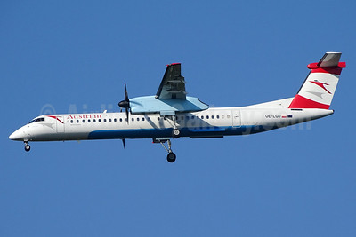 Austrian Airlines Bombardier DHC-8-402 (Q400) OE-LGD (msn 4027) BSL (Paul Bannwarth). Image: 927926.