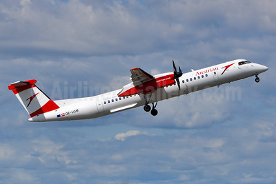Austrian Airlines Bombardier DHC-8-402 (Q400) OE-LGM (msn 4319) VIE (Tony Storck). Image: 939152.