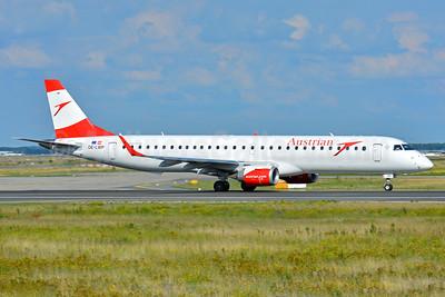 Austrian Airlines Embraer ERJ 190-200LR (ERJ 195) OE-LWP (msn 19000558) FRA (Paul Bannwarth). Image: 939148.
