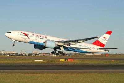 Austrian Airlines Boeing 777-2Z9 ER OE-LPA (msn 28698) SYD (Wingnut). Image: 943964.