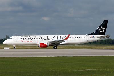 Austrian Airlines Embraer ERJ 190-200LR (ERJ 195) OE-LWH (msn 19000486) (Star Alliance) MUC (Arnd Wolf). Image: 938284.