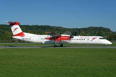 Austrian Airlines Bombardier DHC-8-402 (Q400) OE-LGM (msn 4319) ZRH (Rolf Wallner). Image: 943817.