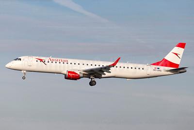 Austrian Airlines Embraer ERJ 190-200LR (ERJ 195) OE-LWG (msn 19000464) ARN (Stefan Sjogren). Image: 934923.