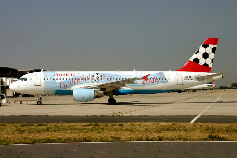 Austrian Airlines Airbus A320-214 OE-LBU (msn 1478) (Official Fan Line 2008) CDG (Christian Volpati). Image: 900822.