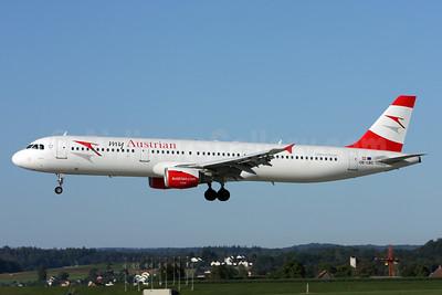 Austrian.com - my Austrian (Austrian Airlines) Airbus A321-111 OE-LBC (msn 581) ZRH (Andi Hiltl). Image: 929232.