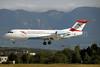Austrian Arrows-Tyrolean Airways Fokker F.28 Mk. 0070 OE-LFL (msn 11573) GVA (Paul Denton). Image: 920196.