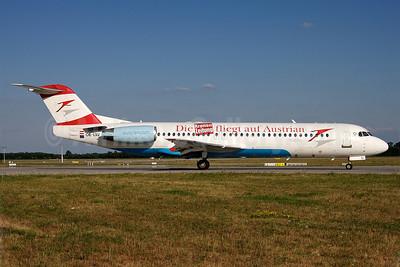 Austrian Arrows-Tyrolean Airways Fokker F.28 Mk. 0100 OE-LVJ (msn 11359) (Die Kronen Zeitung fliegt auf Austrian) MUC (Arnd Wolf). Image: 905306.