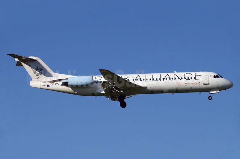 Austrian Arrows-Tyrolean Airways Fokker F.28 Mk. 0100 OE-LVG (msn 11520) (Star Alliance) ZRH (Paul Denton). Image: 912620.