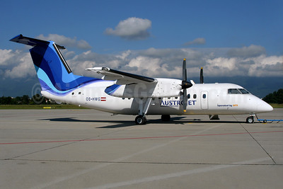AustroJet (BFS) de Havilland Canada DHC-8-102 Dash 8 OE-HWG (msn 289) GVA (Jean-Luc Altherr). Image: 935269.