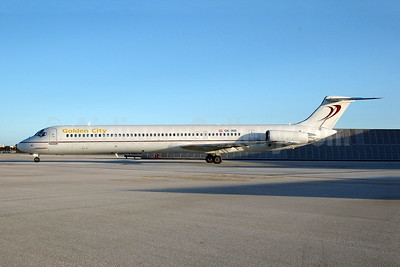 Golden City (Map Jet) McDonnell Douglas DC-9-83 (MD-83) OE-IKB (msn 49448) MIA (Bruce Drum). Image: 104987.
