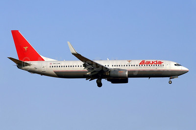 Lauda Air Boeing 737-8Z9 WL OE-LNK (msn 28178) (red tail) PMI (Javier Rodriguez). Image: 903560.