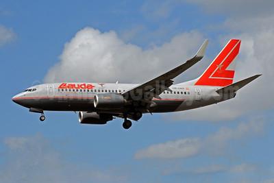 Lauda Air Boeing 737-7Z9 WL OE-LNO (msn 30419) LHR (Bruce Drum). Image: 101473.