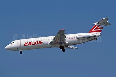 Lauda Air BAC 1-11 525FT OE-ILD (msn 256) ATH (Richard Vandervord). Image: 955256.