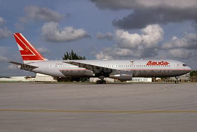 Lauda Air Boeing 767-3Z9 ER OE-LAZ (msn 30331) MIA (Bruce Drum). Image: 104428.