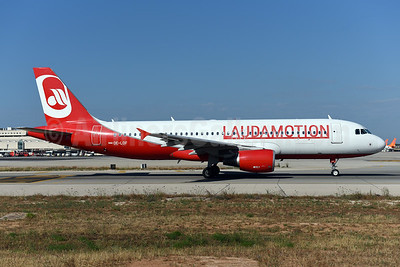 Laudamotion Airbus A320-214 OE-LOF (msn 4329) (Airberlin colors) PMI (Ton Jochems). Image: 942581.