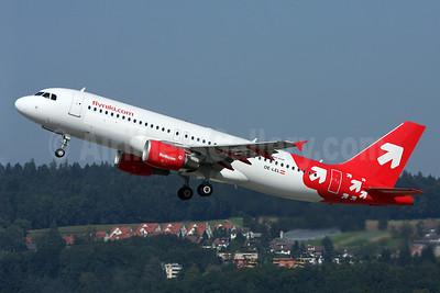 flyniki.com (Niki Luftfahrt) Airbus A320-214 OE-LEL (msn 2668) (OLT Express colors) ZRH (Andi Hiltl). Image: 909312.