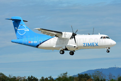 Zimex Aviation (Austria) ATR 42-320 (F) OE-HZA (msn 093) BSL (Paul Bannwarth). Image: 951176.
