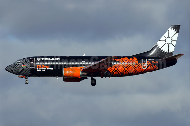 "Belavia's 2016 ""World of Tanks"" special livery"