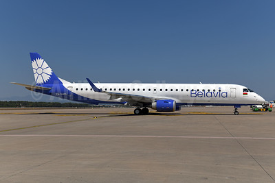 Belavia Belarusian Airlines Embraer ERJ 190-200LR (ERJ 195) EW-514PO (msn 19000756) AYT (Ton Jochems). Image: 955170.