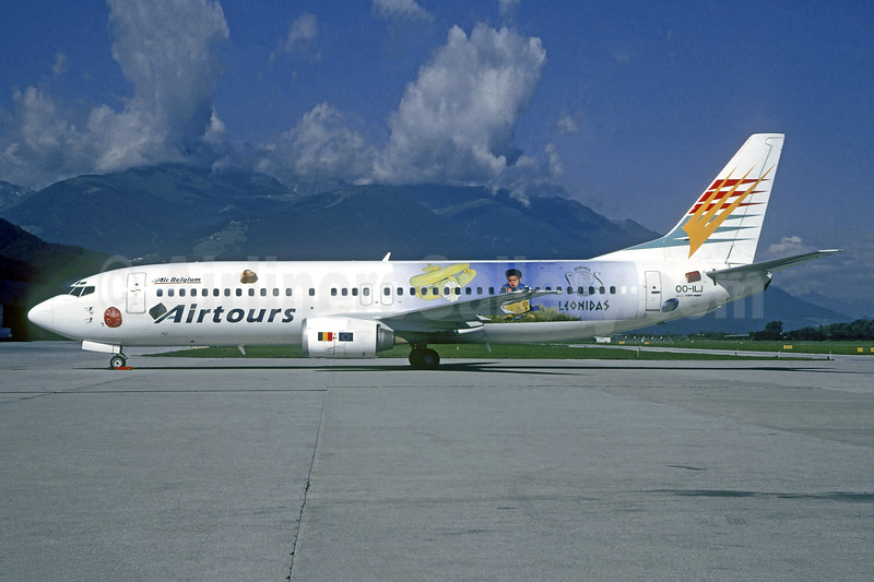 "Operated by Air Belgium, 2000 ""Leonidas"" livery"