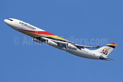Air Belgium (2nd) Airbus A340-313 OO-ABB (msn 844) LHR (SPA). Image: 943610.