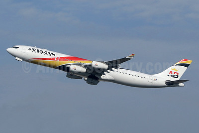 Air Belgium (2nd) Airbus A340-313 OO-ABB (msn 844) LHR (SPA). Image: 943793.