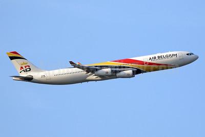 Air Belgium (2nd) Airbus A340-313 OO-ABB (msn 844) LHR (SPA). Image: 943397.