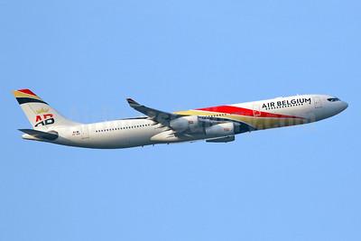 Air Belgium (2nd) Airbus A340-313 OO-ABB (msn 844) LHR (SPA). Image: 943396.