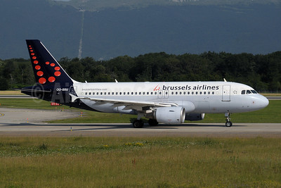 Brussels Airlines Airbus A319-111 OO-SSU (msn 2230) GVA (Paul Denton). Image: 909499.