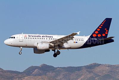 Brussels Airlines Airbus A319-112 OO-SSK (msn 1336) AGP (Stefan Sjogren). Image: 923461.