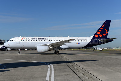 Brussels Airlines Airbus A320-214 OO-TCQ (msn 2114) BRU (Ton Jochems). Image: 941516.