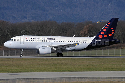 Brussels Airlines Airbus A319-111 OO-SSA (msn 2392) GVA (Paul Denton). Image: 912289.